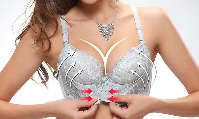 6140c8471b0bd 5 Colors New Women Push Up Bras Sexy Sticky Embroidery Bra ...