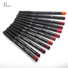 Pudaier 12Colors Lipliner Sof Texture Long Lasting Lip Liner Pencil Lip Sense Cosmetics Contour Lip