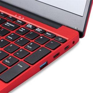 Image 4 - Caderno 15.6 Polegada 6 gb ram computador portátil j3455 quad core 1080 p ips windows 10 layout completo teclado bluetooth 4.0 vermelho da forma com rj45