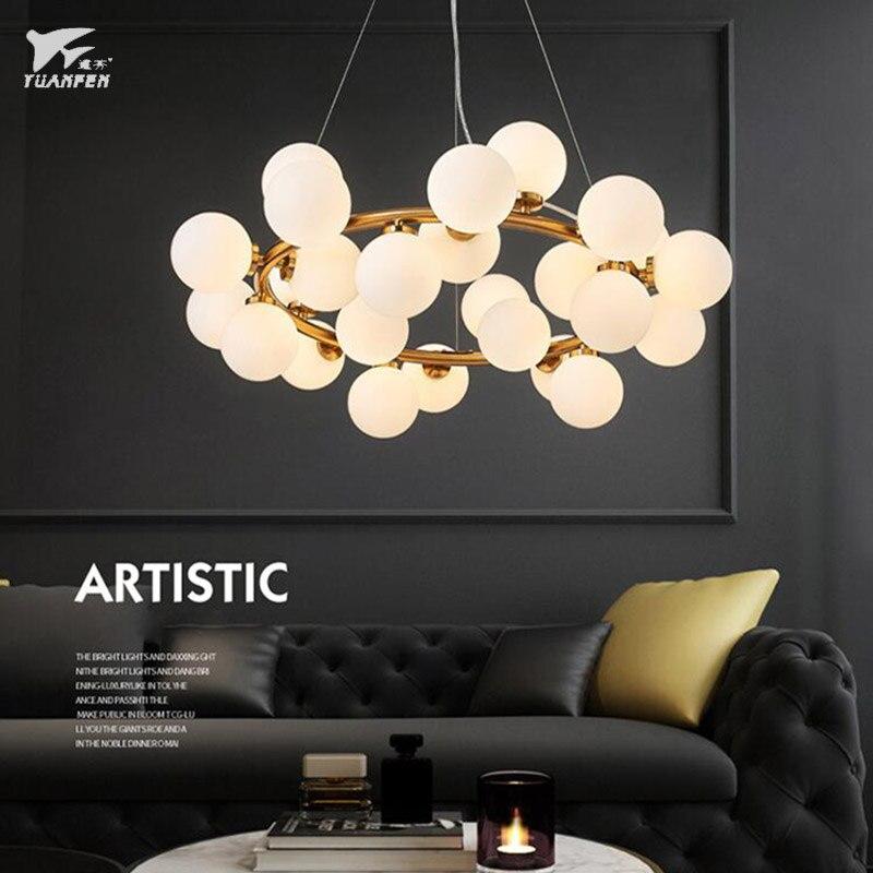 buy modern chandeli magic bean glass led chandelier lamp molecular structure. Black Bedroom Furniture Sets. Home Design Ideas