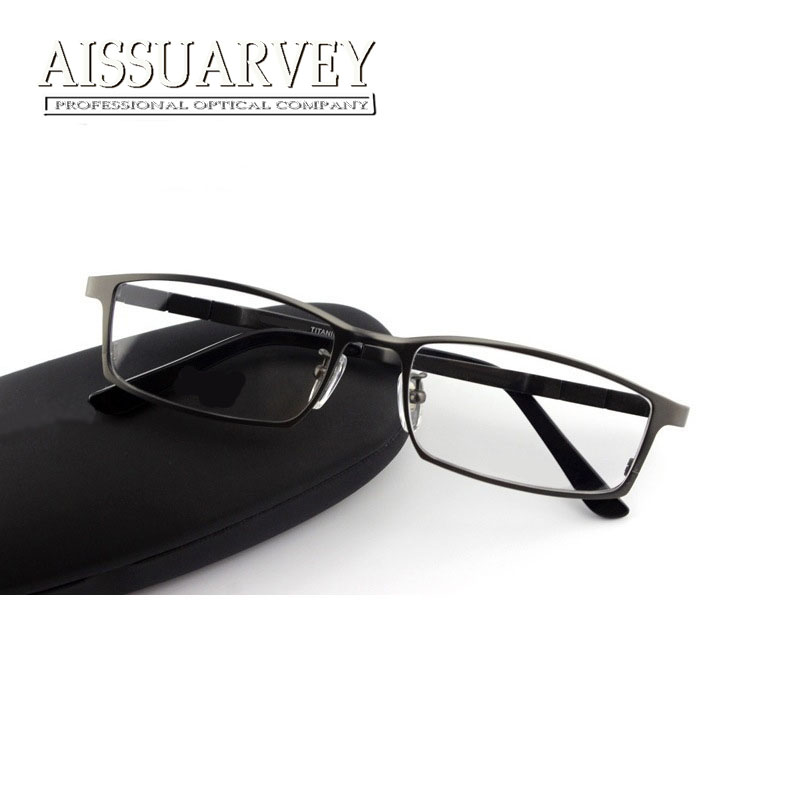 697f6456860bd Titanium Eyeglasses Frames Men Optical Eyewear Brand Designer Top Quality  Prescription Goggles Full Rim Spring Leg Gentleman New-in Eyewear Frames  from ...