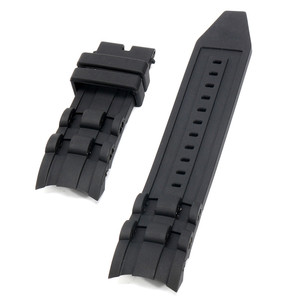 26mm Silicone Rubber Watchband Black Luxury Men's Wristband Watch Bracelet Replacement Strap No Buckle For/Invicta/Pro/Diver(China)
