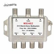 3 In 4 Out uydu DiSEqC bağımsız Multiswitch Splitter 3x4 uydu anahtarı FTA TV LNB anahtarı smatv DVB S2 DVB T2