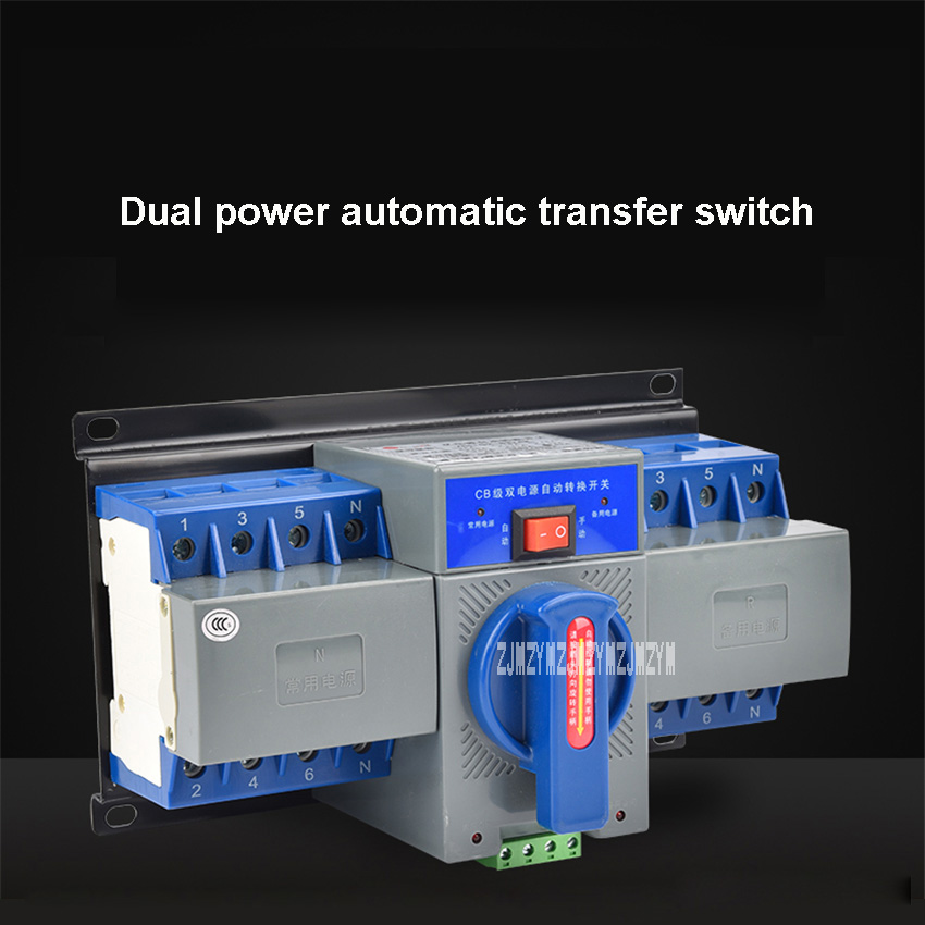 WHTQ2-4P63A Dual Power Automatic Manual Change-over Transfer Switch High-quality 4P 63A Mini Type Circuit mcb Breaker 380V 189W 400 amp 3 pole cm1 type moulded case type circuit breaker mccb