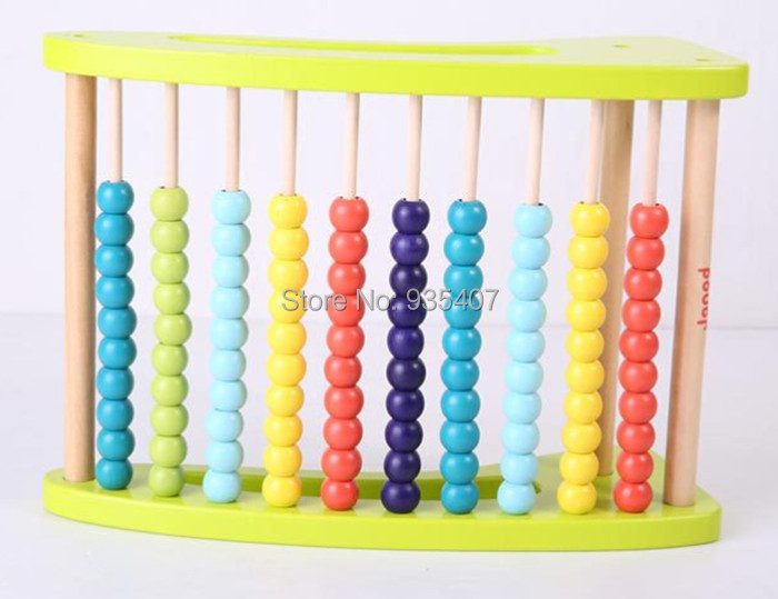 New wooden toy export France abacus frame  baby toy free shipping