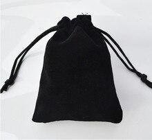 2017 hot Free shipping 7*9cm high-grade black velvet bag jewelry bags / jewelry box wholesale