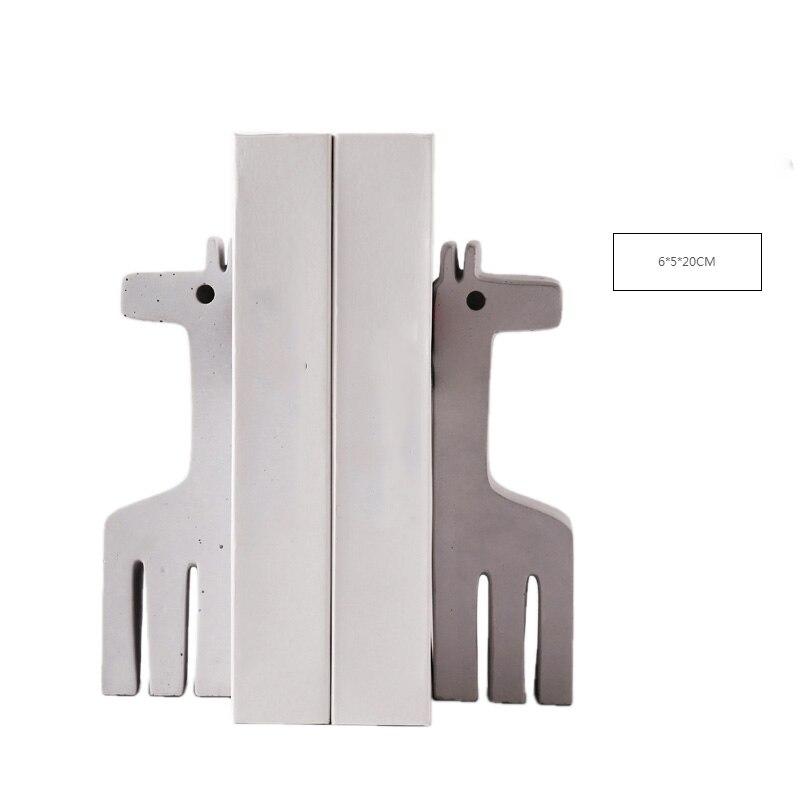 Животного Подставки для книг форзац Nordic стиле кантри цемента Смола украшения шкаф аксессуары библиотека детской комнаты