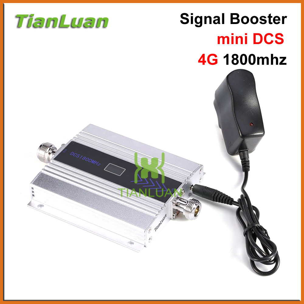 TianLuan mini DCS 1800MHz Mobile Phone Signal Booster 2G 4G 1800 MHz Signal Repeater Cell Phone Amplifier with Power Adapter