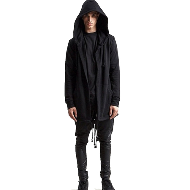Oversized zwarte mantel