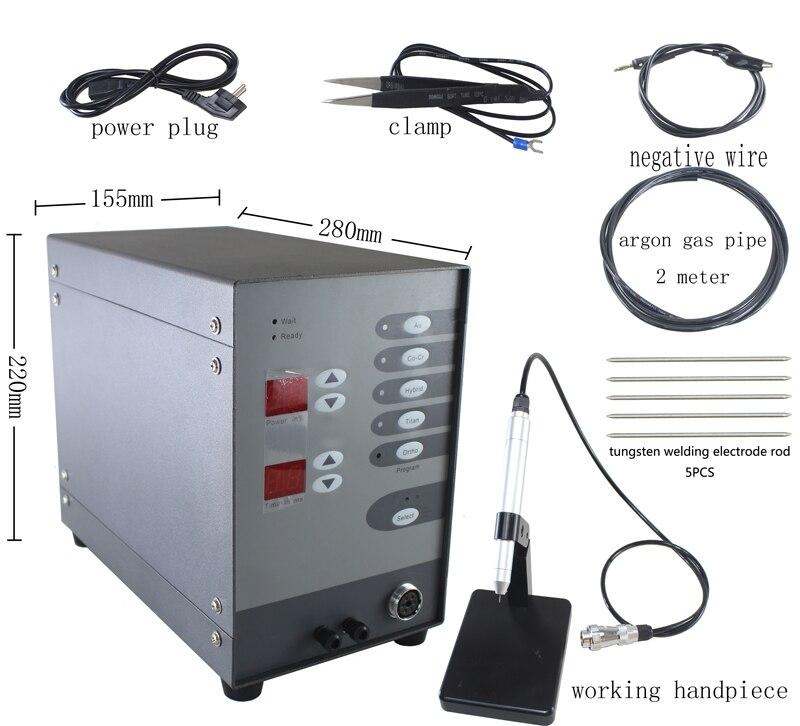 Soudeuse automatique d'arc d'argon d'impulsion de contact de commande numérique de Machine de soudure de Laser de tache de l'acier inoxydable 220V pour souder des bijoux