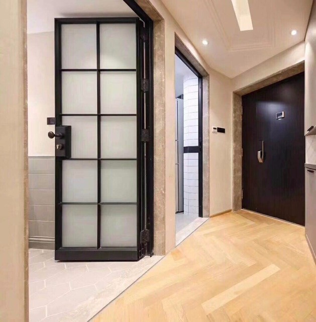 Gentil Export Tempered Low E Single/double Glazed Exterior Wrought Iron French  Doors Hench If31