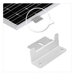 4 pçs/set Conjunto Z-Alumínio em forma de Painel Solar Suporte De Montagem de Metal Suporte Do Telhado Carvan Solares Sistema de acessórios de instalação