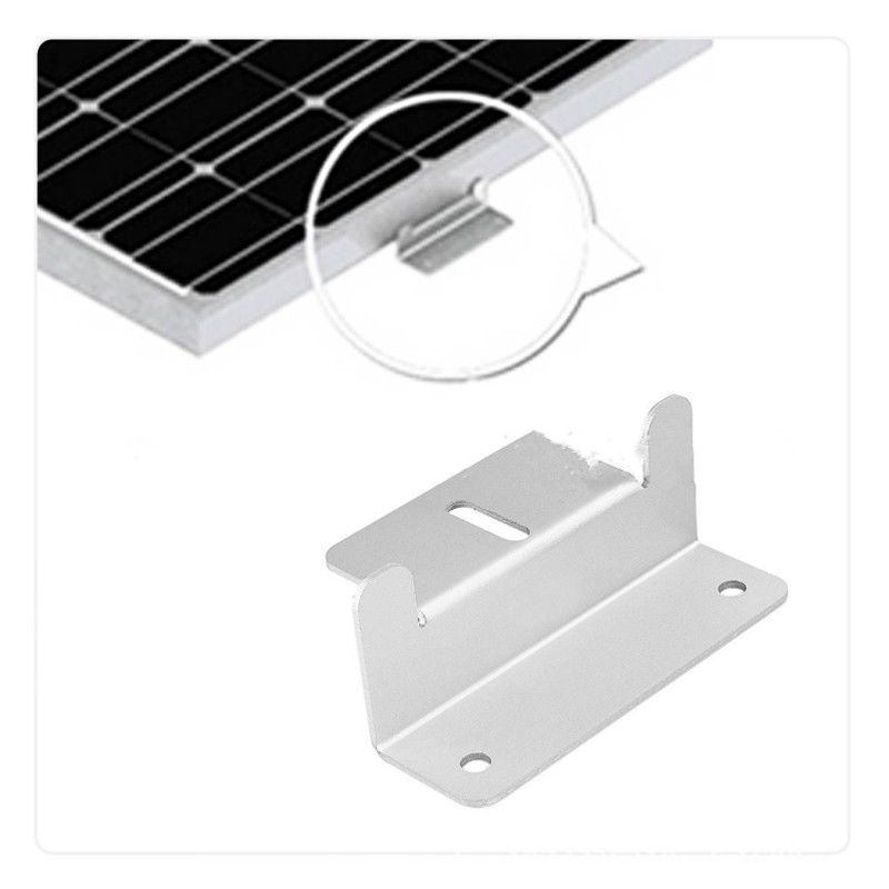 4pcs/set Metal Solar Panel Mounting Bracket Set Z-shaped Aluminum Roof Bracket Carvan Solar System Installation Accessories
