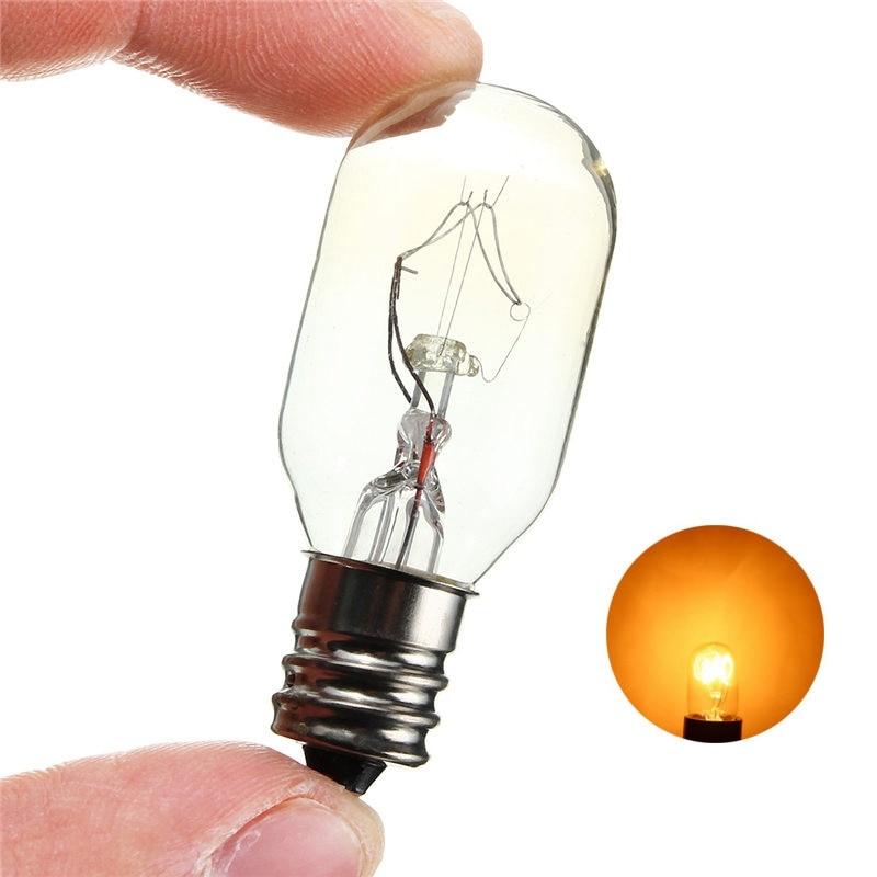 Glass Retro Edison Filament Light Bulbs 15W/25W Incandescent Bulb E12 Salt Lamp Toaster Oven Refrigerator Lamp Lighting AC120V
