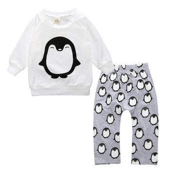 2019 baby boy long-sleeved clothing top + pants 2 pcs sport suit children's clothes set newborn crown children's clothing TZ-333 Newborn