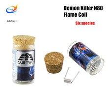 Demon Killer N80 Flame Coil prebuilt coil head for DIY atomizer RDA RBA RTA RDTA  vape tank wire Evaporator electronic cigarette