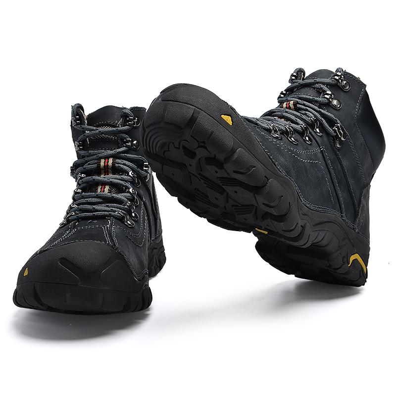Hommes Boot Neige Cuir Travail En De VéritableHomme Peluche Mode Nouveau Chaudes brown Gray Hiver Garder Cheville Zunyu Chaussures Bottes WDY29EHI