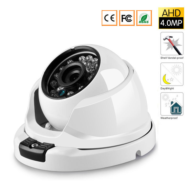 HD AHD 4MP Camera Wide Angle 2.8mm Optional Metal Dome Vandal-proof CCTV Camera Surveillance Security 24 Array IR aokwe 1080p 2mp ahd camera megapixels 3 6mm lens vandal proof ir dome ahd camera cctv security camera