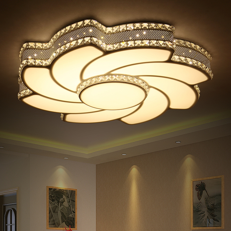 2017 Crystal Windmill Modern LED Ceiling Lights For Bedroom Iron Ceiling Lamp Lighting Fixtures home decoration Free Shipping