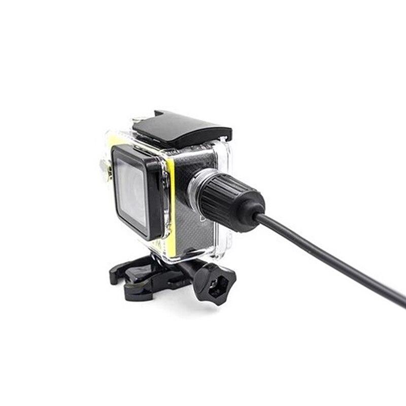 Caliente. accesorios de la Cámara caso impermeable con cargador de Cable USB para SJCAM Sj4000 Sj7000 Sj9000 envío de la gota