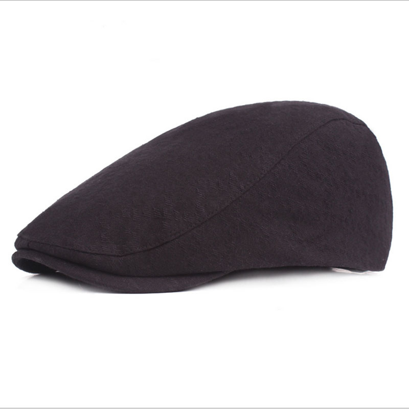 2018 New Summer Men Casual Solid Color Beret Hat Adjustable Cotton Ultra Thin Breathable Berets Newsboy Style Cap Free Shipping in Men 39 s Berets from Apparel Accessories