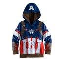 Thor Super Hero boy Jacket & Brasão, Baby boy The avengers Cosplay Casaco Crianças homem De Ferro Casuais jackets. hoodies do bebê 3-10 T