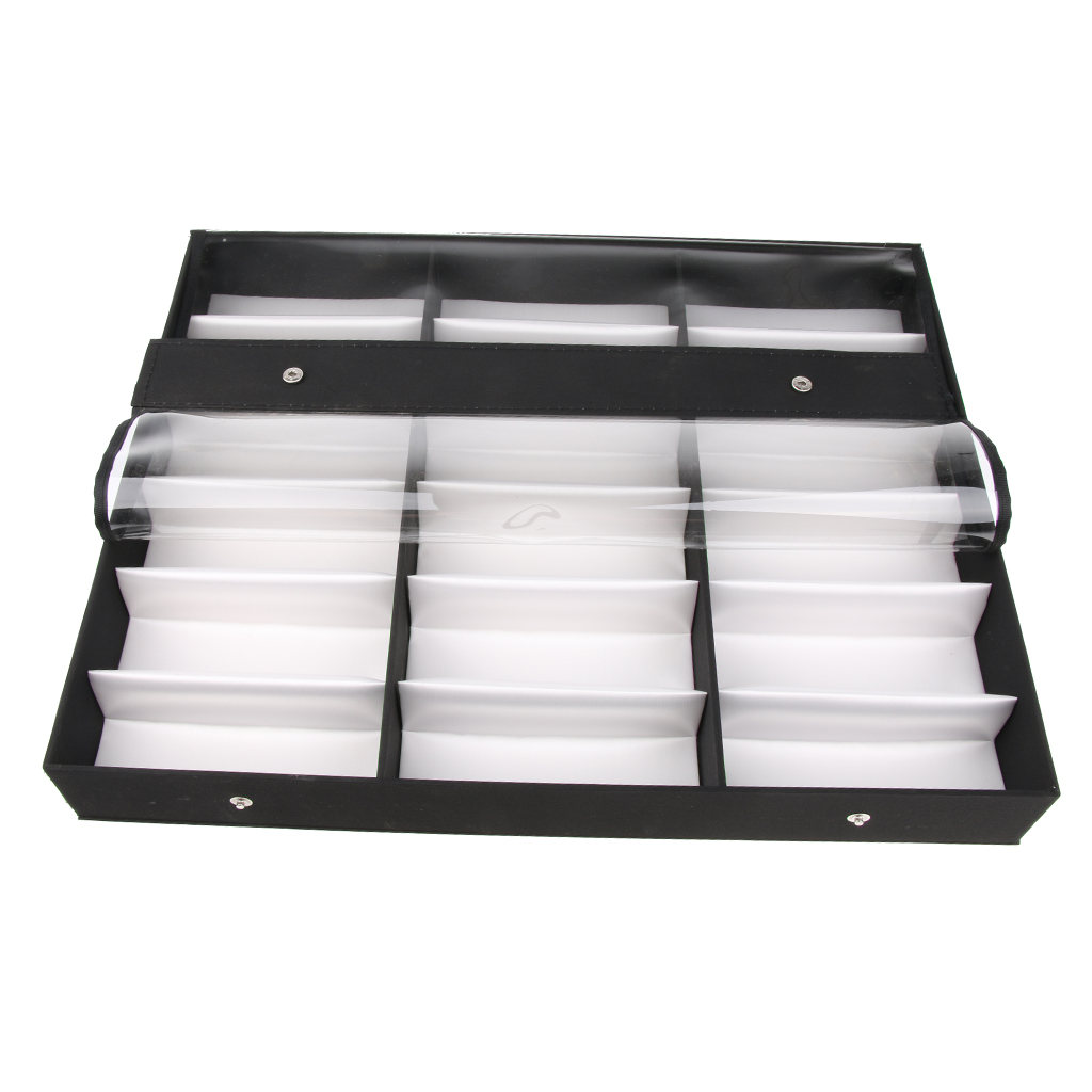 18 Slots Eyewear Display Box Sunglasses Glasses Show Stand Holders For Trade Shows Shops Home