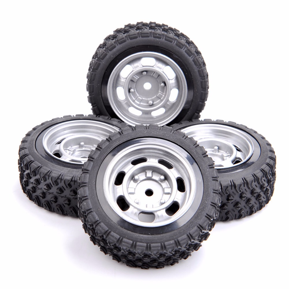 4PCS/set  12mm Hex 1:10 Rally Rubber Tires Wheel Rim 11083 For HSP HPI RC Car 4pcs 1 9 rubber tires