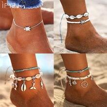 Jeśli ty Bohimia żółwie morskie Anklet Vintage dla kobiet lato plaża bransoletka BOHO na nogę łańcuch stóp obrączki biżuteria Drop shipping
