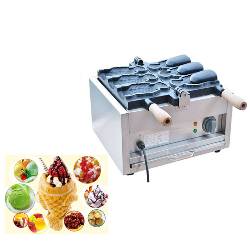 все цены на BEIJAMEI Commercial Ice Cream Taiyaki Machine/Big Fish Shaped Cake Mould/Open Mouth Taiyaki Maker 3 pcs