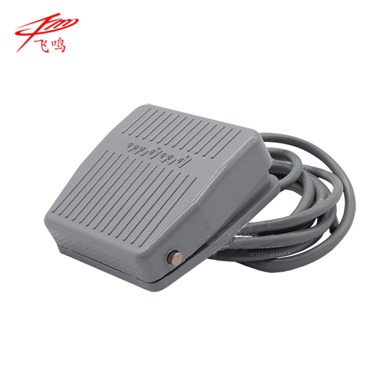 0-400V Footswitch Foot Momentary Control Switch Electric Power Pedal SPDT Grey ifree fc 368m 3 channel digital control switch white grey