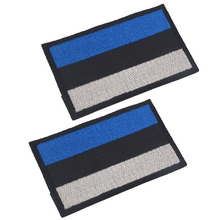 5pcs/lot Estonia Flag Embroidery the Tactical Military Patches Badges for Clothes Clothing