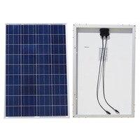 100W 18V Polycrystalline Solar Panel For 12v Battery Off Grid System Solar For Home System