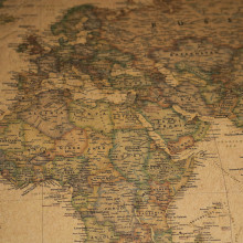20 Pcs World map Poster Kraft paper 72.5*47cm Student stationery World geography Wallpapers Home Decor Decorative paintings