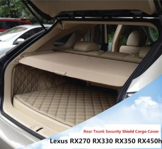 High Qualit Car Rear Trunk Cargo Cover Security Shield Screen Shade Fits For Lexus RX270 RX350 2007-2015(black, Beige)