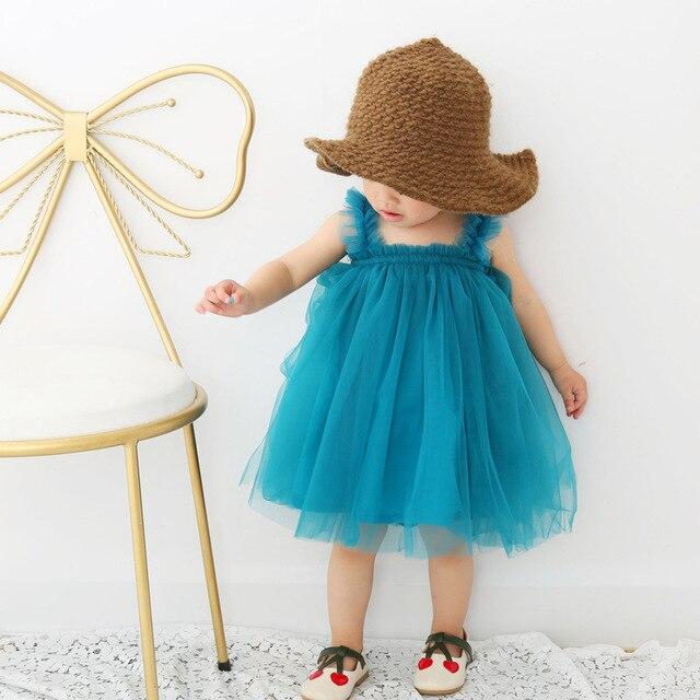 2019 Summer Children Tutu Vest Dress Infant New Baby Clothes Braces Dresses For Girl Clothing Princess Party Christmas Kids Tops