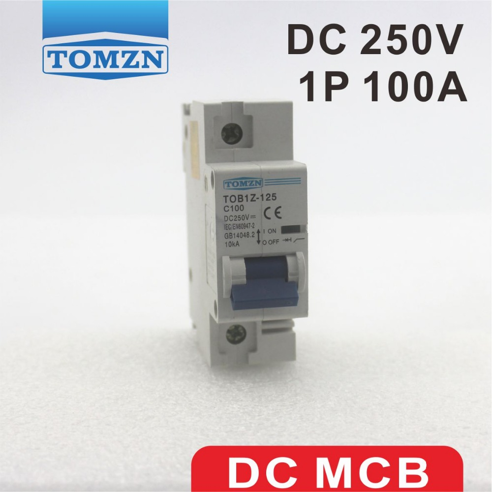 1P 100A DC 250V  Circuit breaker FOR PV System C curve1P 100A DC 250V  Circuit breaker FOR PV System C curve
