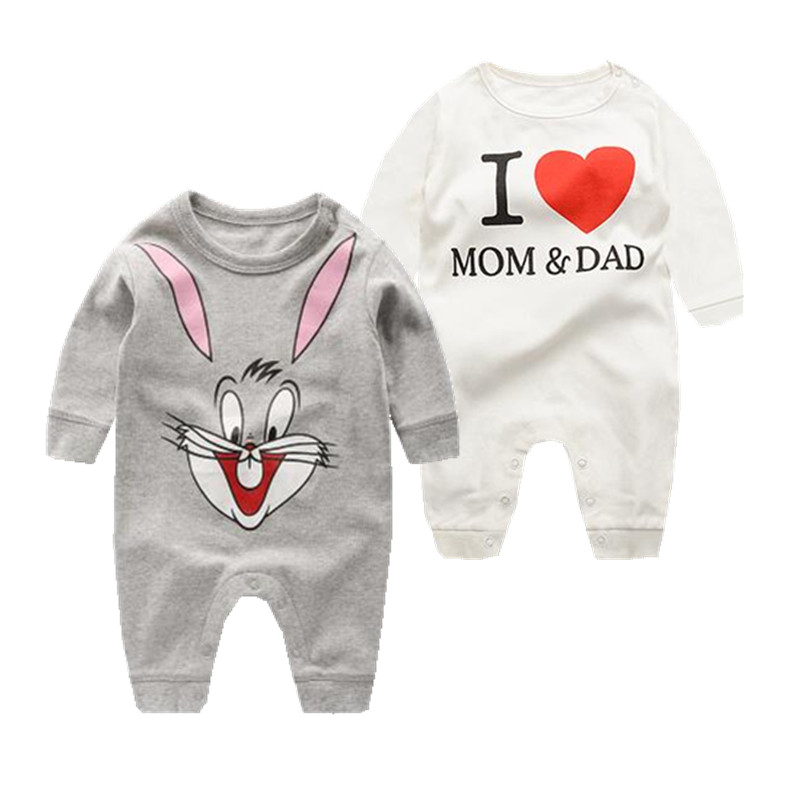 Fashion 2018 baby rompers cartoon baby clothes for newborn baby boy clothing infant baby dresses roupas infantis menina costume цена