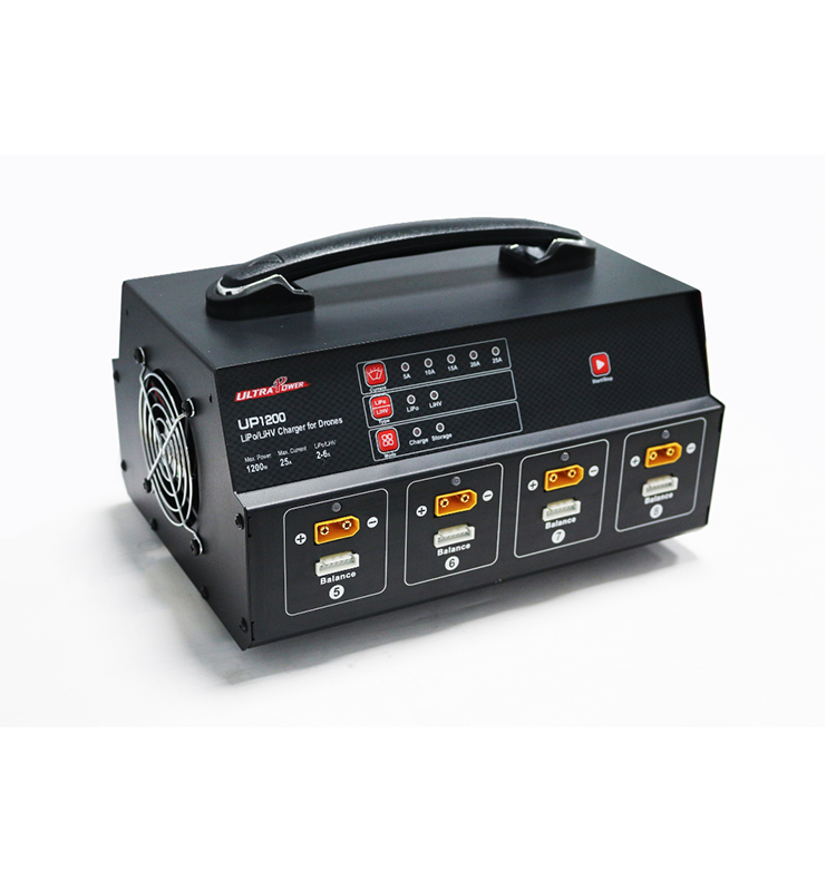 Ultra Power UP1200 1200W 8 Channel Balance Charger for RC plant protection drone Lipo Battery