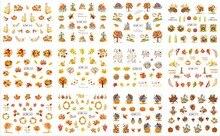 Uprettego 12 packs/ロットネイルアート美容水デカールスライダーネイルステッカー赤い葉メープルツリークマ静脈秋BN361 372
