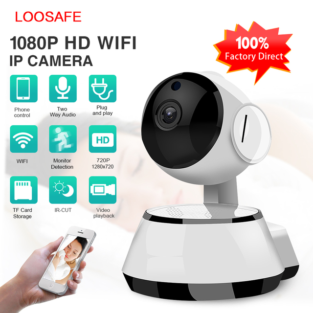 Ev WiFi Güvenlik IP Kamera Kablosuz Ucuz Kamera WI-FI Ses Kayıt Ir-cut Gece Görüş Gözetim HD Mini güvenlik kamerası