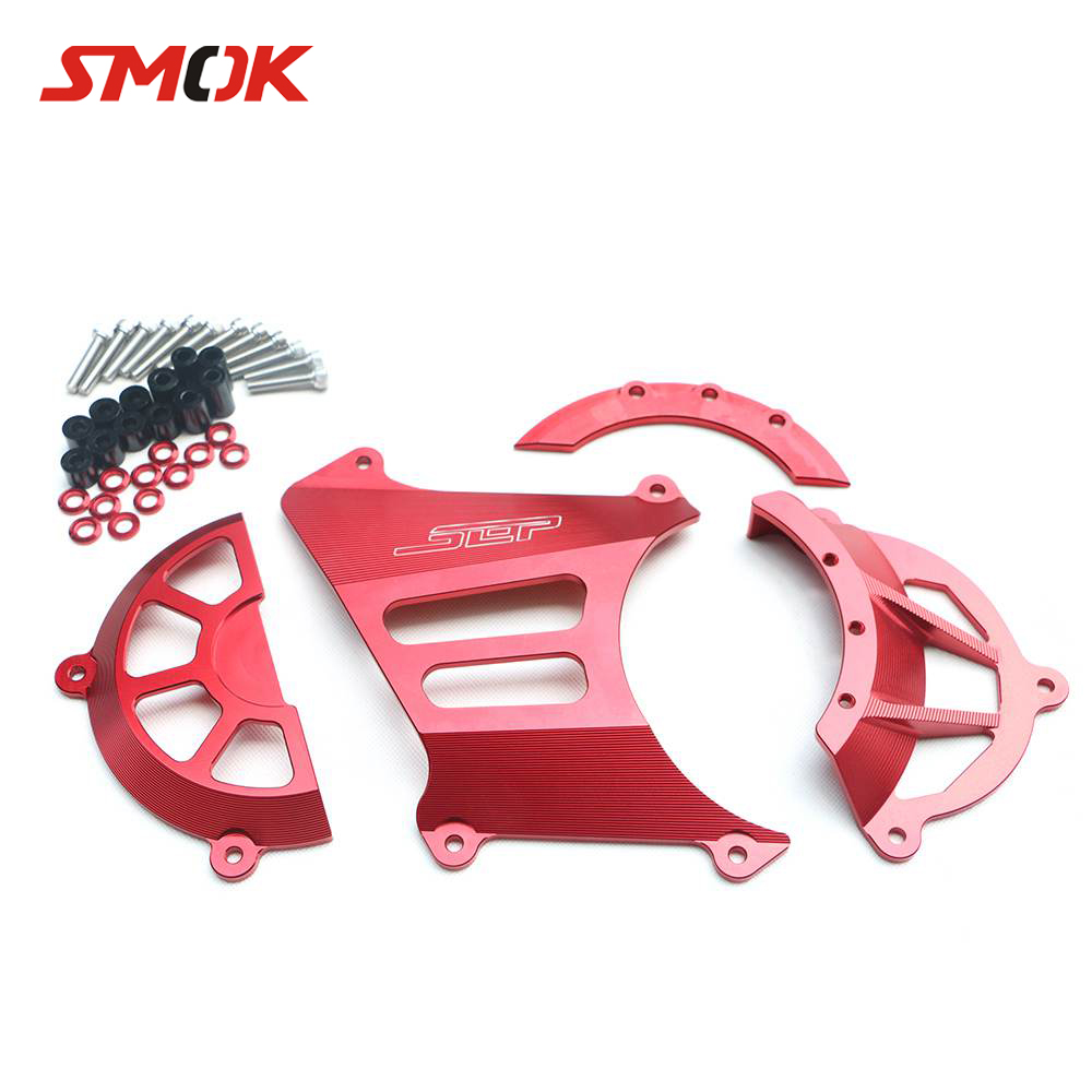 SMOK Motorcycle Scooter Accessories CNC Aluminum Transmission Belt Pulley Protective Cover Guard Protection For Yamaha BWS X 125 sep scooter vehicle frame decoration frame externally body protection cover guard bumper for yamaha bws x 125