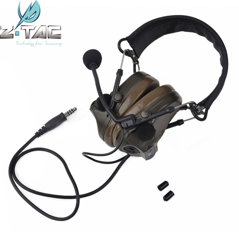 Z Tactical COMTAC III Headset C3 Dual Channel Pickup Noise Reduction Headset Headphone Military Airsoft Hunting Earphone Z051 z tactical noise reduction headset comtac ipsc style tactical hunting shooting protective earphone for airsoft military radio