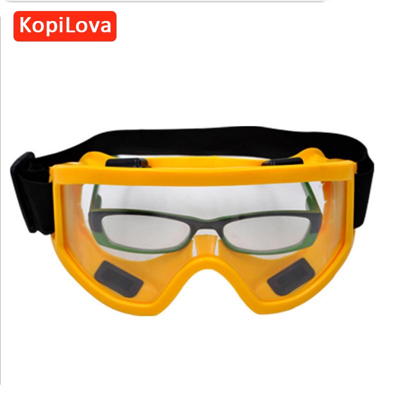 цена на KopiLova 10pcs High Quality Safety Goggles Windproof Anti-dust Aviod Sputtering Goggles for Eye Protection Free Shipping