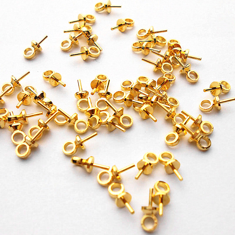 100pcs Jewelry DIY Accessories Gold Filled Hook For Necklace Findings & Components PJ060