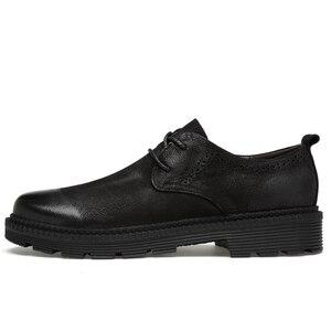 Image 3 - CLAX Mens עור נעלי עור אמיתי אביב סתיו מעצב גברים מקרית הליכה Footwar חורף פרווה Chaussure Homme בתוספת גודל