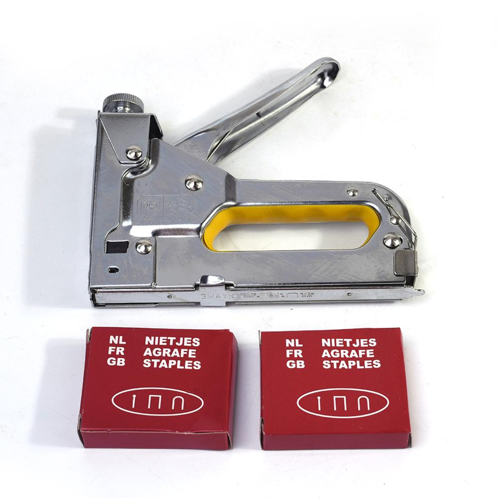 3 In 1 Manual Nail Gun Heavy Duty Manual Staple Nail Gun Upholstery Tacker Multitool Furniture Stapler Staple For Hobby Art Craf