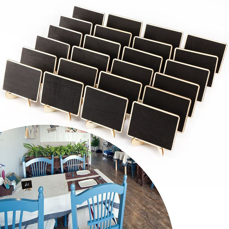 24 X Mini Blackboard Write A Message For The Wedding Cafe Restaurant