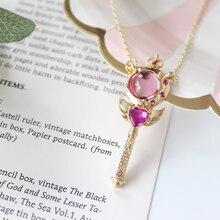Аниме Сейлор Мун Косплей дубинка кулон ожерелье любящее сердце Шарм женские ювелирные изделия