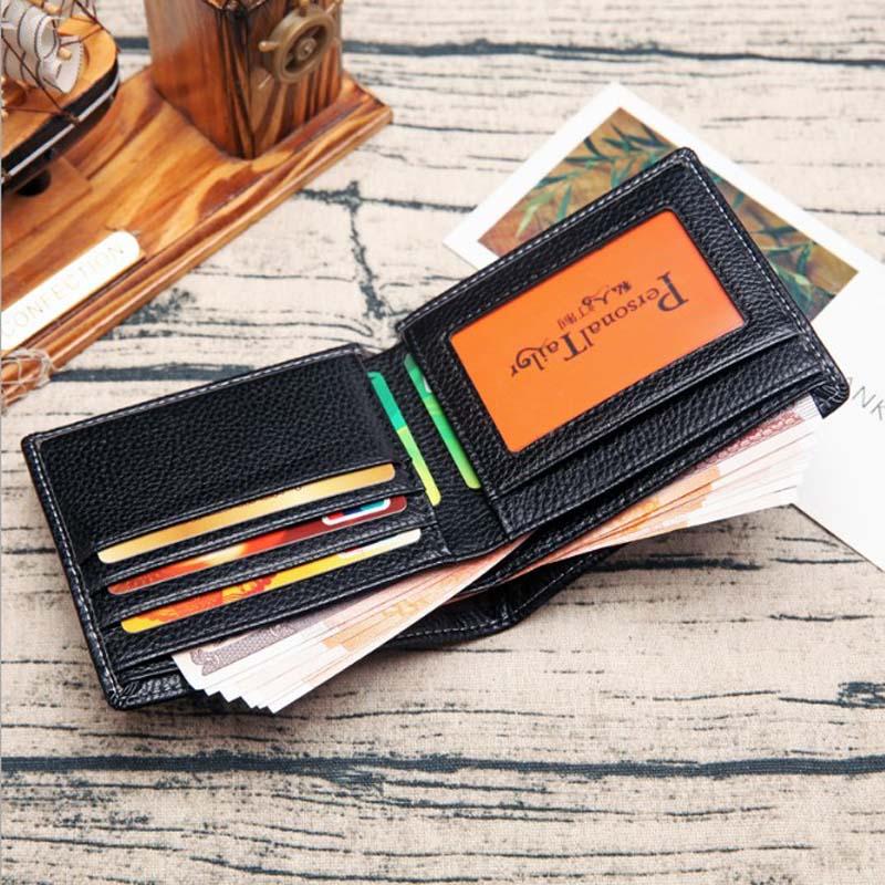 Men's wallets transversal fashion